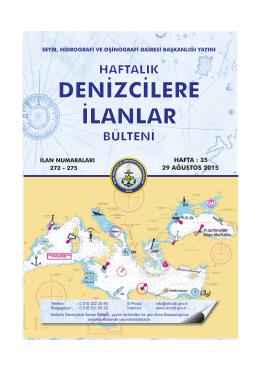 Ağustos 2015 - Seyir Hidrografi ve Oşinografi Dairesi Başkanlığı