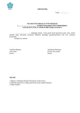 Faaliyet Etkinlik Talep Formu ve Yazışma Örnekleri