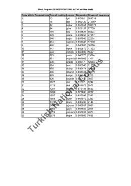 Turkish National Corpus
