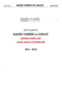 2011 – 2012 Dönemi Ara Sınav Soruları ve Çözümlü