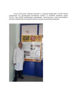 Erciyes Üniversitesi Teknoloji Araştırma ve Uygulama Merkezinde