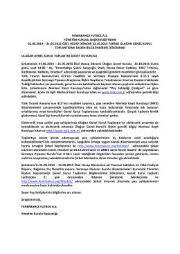 31.05.2015 özel hesap dönemi 23.10.2015 tarihl