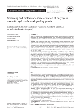 Screening and molecular characterization of polycyclic aromatic