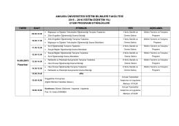 ankara üniversitesi eğitim bilimleri fakültesi 2015 – 2016 eğitim