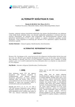 alternatif soğutkan r-134a - Pamukkale Üniversitesi Mühendislik