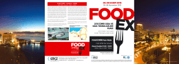 foodex 2015 tanıtım broşürü - Türkiye Süt, Et, Gıda Sanayicileri ve