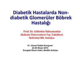Diyabetli hastalarda nondiyabetik glomerulopati