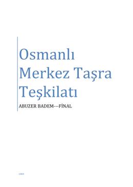 Osmanlı Merkez Taşra Teşkilatı