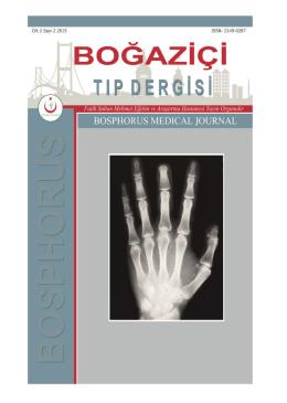 2.Cilt - Boğaziçi Tıp Dergisi