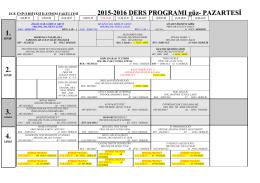 2015-2016 güz ders programı - Ege Üniversitesi İletişim Fakültesi