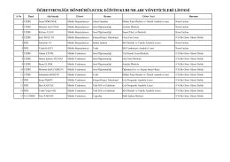 öğretmenliğe döndürülecek eğitim kurumları yöneticileri listesi