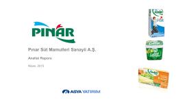 Pınar Süt Mamulleri Sanayi A.Ş. Değerleme Raporu
