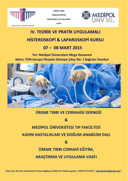ıv. teorik ve pratik uygulamalı histeroskopi & laparoskopi kursu 07