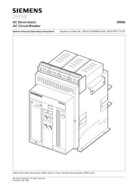 AC Devre kesici 3WN6 AC Circuit-Breaker