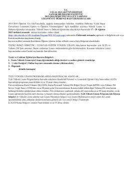 tc celal bayar üniversitesi sağlık bilimleri enstitüsü 2015