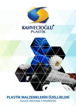 Plastik Malzemelerin Özellikleri İNDİR