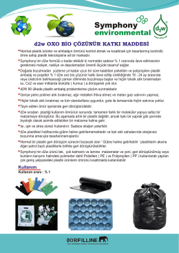d2w OXO BİO ÇÖZÜNÜR ( PDF )