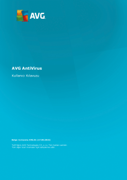 AVG AntiVirus User Manual