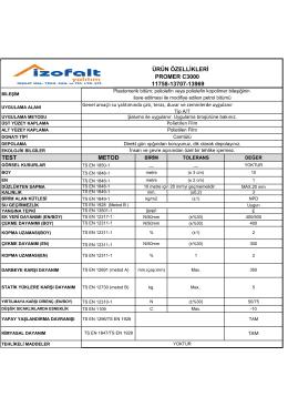 TEST METOD ÜRÜN ÖZELLİKLERİ PROMER C3000 11758