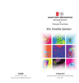 Konuşmacılar - Hacettepe Üniversitesi Nörolojik Bilimler ve