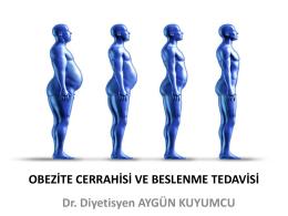 Obezite Ameliyatlarında Beslenme