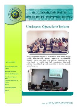 Eylül 2015 - Fen Bilimleri Enstitüsü