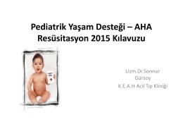 AHA 2015- Pediatrik TYD