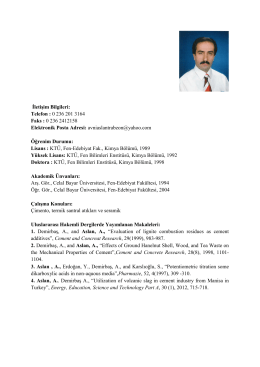 Yrd. Doç. Dr. Avni ASLAN - Kimya
