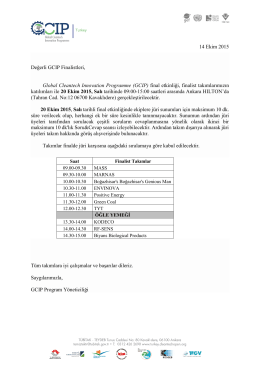 GCIP 2015 Final Etkinlik Programı