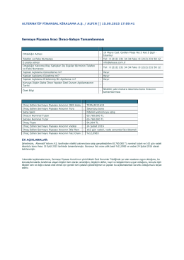 Sermaye Piyasası Aracı İhracı-Satışın Tamamlanması