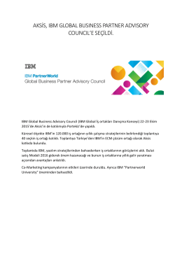 Aksis, IBM Global Business Partner Advisory Council`e seçildi