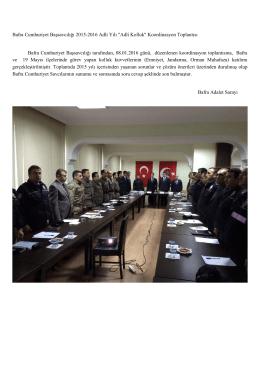 Bafra Cumhuriyet Başsavcılığından Koordinasyon Toplantısı