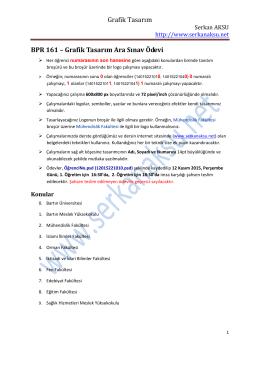BPR 161 – Grafik Tasarım Ara Sınav Ödevi