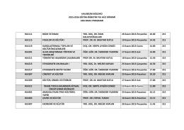 halkbilim bölümü 2015-2016 eğitim