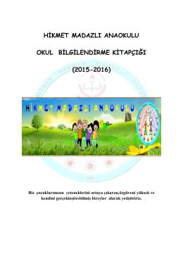 Okul Bilgilendirme Kitapçığı 2015/2016