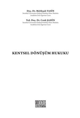 KENTSEL DÖNÜŞÜM HUKUKU - On İki Levha Yayıncılık