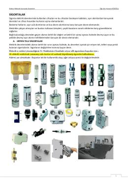 Elektro-Mekanik Kumanda Sistemleri Ders Notu-5