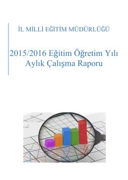 2015 yılı Kasım Ayı Çalışma Raporu