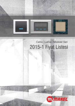 2015-1 Lüks Seri Fiyat Listesi