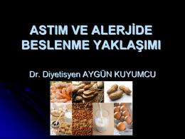 Astım ve Allerjide Beslenme Yaklaşımı