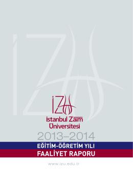2013-2014 Eğitim-Öğretim Yılı Faaliyet Raporu