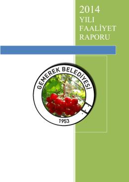 gemerek belediyesi faliyet raporu