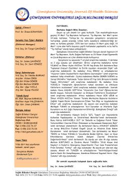 ümüşhane üniversitesi - Gümüşhane Üniversitesi Sağlık Bilimleri