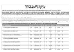 türkiye halk bankası a.ş. gayrimenkul satış ilanı