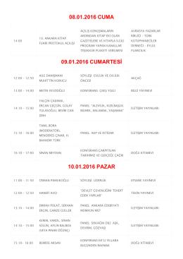 10. Ankara Kitap Fuarı Söyleşi ve Paneller