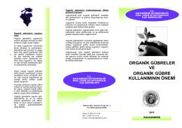 organik gübreler ve organik gübre kullanımının önemi