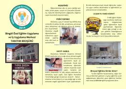 Okul Tanıtım Broşürümüz - Bingöl Özel Eğitim İş Uygulama Merkezi