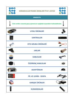 uydu ürünleri santraller adaptörler pil ve lehim