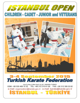 Karate1 - [Name of host city]