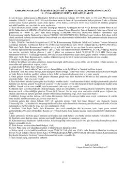 Pazarcık-Elbistan - Ulaşım Hizmetleri Dairesi Başkanlığı
